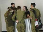 IDF spokespeople during break